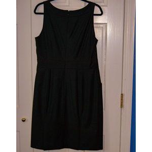 J. Crew Super 120s Black Wool Sleeveless Dress, 12